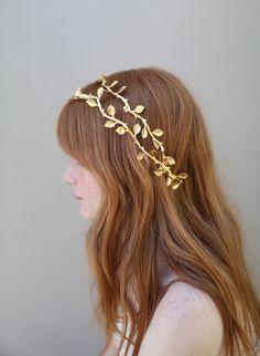 Gilded double hair vine by Twigs and Honey