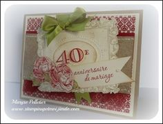Stampin' Up! Anniversary Card  by Maryse Pelletier