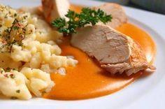 Kuřecí prsa na paprice, noky No Salt Recipes, Cooking Recipes, Sorrento, Gnocchi, Risotto, Mashed Potatoes, Food And Drink, Menu, Ethnic Recipes