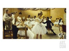 The Royal Theatre's Ballet School Art Print by Paul Fischer at Art.com
