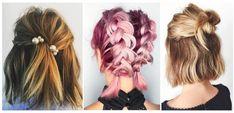 Des idées de coiffures faciles pour les cheveux courts! Easy Hair Short, Short Braids, Short Hair Styles Easy, Medium Hair Styles, Evening Hairstyles, Side Hairstyles, Short Hairstyles For Women, Hair Cuts, Hair Beauty