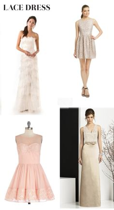 Bridesmaid Dresses - How to Match them to the Bridal Gown via @Maven Bride