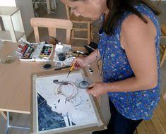 Painter Rukiye Garip , Watercolor works- Suluboya çalışmalarım