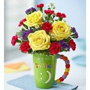 Mugable Sending Big Smiles #mug #flowers #bouquet #giftideas #everydaygifts