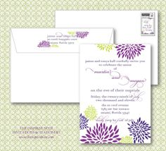 Rehearsal Dinner Invitation Set of 50 by theinspirednote on Etsy