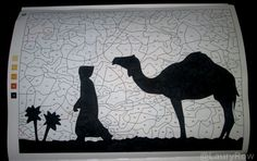 #Coloriage #Mysteres #sahara #camel @LauryRow       Like my page here :: https://www.facebook.com/merveillesdetentesdelaury
