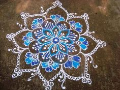 Here are some of the best Rangoli designs for diwali. These rangoli designs are simple and easy to draw. So decorate your house with beautiful rangoli designs. Rangoli Patterns, Rangoli Ideas, Rangoli Designs Diwali, Kolam Designs, Kolam Rangoli, Flower Rangoli, Quilling Patterns, Mandala Art, Lotus Mandala