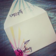 So much fun making a pretty envelope to go with a card.