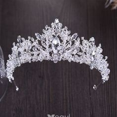 Sparkly Silver Tiara 2018 Metal Rhinestone Beading Crystal Accessories – Famous Last Words Bridal Crown, Bridal Tiara, Bridal Earrings, Wedding Jewelry, Quinceanera Tiaras, Silver Tiara, Crystal Crown, Fantasy Jewelry, Tiaras And Crowns