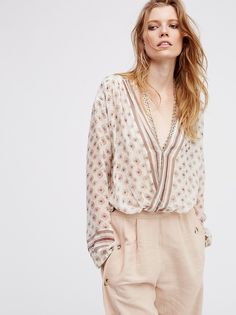Border Print Peasant Top from Free People!