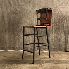 industrial system chair Industrial Shop, Wood And Metal, French Antiques, Bar Stools, Chair, The Originals, Furniture, Home Decor, North West