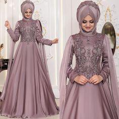 Batik Fashion, Abaya Fashion, Fashion Dresses, Hijab Dress Party, Hijab Style Dress, Famous Wedding Dresses, Bridal Dresses, Muslim Evening Dresses, Formal Dresses