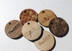 50 - 1.5 x 1.5 Custom Wood Tags-Custom Engraved Tags-Wood Gift Tags