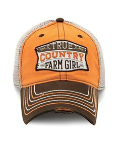 fee91d5cac7 Look what I found on Farm Girl Orange   Brown  True Country  Trucker Hat by  Farm Girl