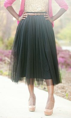A-Line Tulle Skirts available in many colors. - Apostolic Clothing #modest #skirts