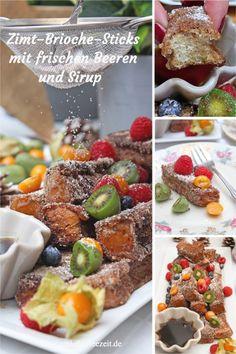 Du Suchst noch ein schnelles und tolles Frühstücksrezept? Macht doch jetzt zum ersten Adventsonntag oder zum Weihnachtstag, einfach diese weihnachtlichen leckeren Zimt-Brioche-Sticks mit frischen Beeren und Sirup für deine Liebsten. Mit meinem schnell gemachten und köstlichen Rezept. #brioche #briocherezepet #frühstück #brunch #weihnachten #advent #einfach #schnell #leicht #deutsch #mitfrischerhefe #sonntagsistkaffeezeit Sweet Bakery, Easy Peasy, Cereal, Muffins, Cupcakes, Breakfast, Desserts, Food, Brioche
