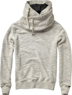 Home Alone hooded sweater with double collar -Scotch  Soda