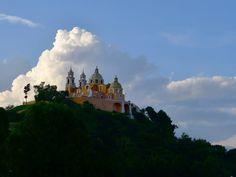 La iglesia de los remedios en Cholula