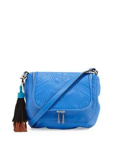V33G5 French Connection Gabby Faux-Leather Crossbody Bag, Empire Blue