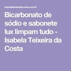 Bicarbonato de sódio e sabonete lux limpam tudo - Isabela Teixeira da Costa