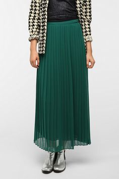 2012 Sparkle & Fade Pleated Chiffon Maxi Skirt, Urban Outfitters, 0
