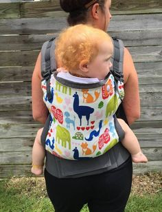 Canvas - Mom's Milk Boutique Exclusive 'Every Animal Has A Heart' (aka EAHAH) TULA BABY CARRIER