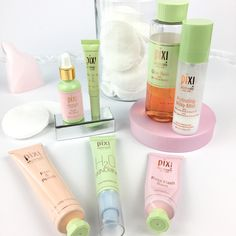 Pixi Glow Tonic, Peel and Polish Rose Oil Blend Rose Flash Balm H2O skindrink Hydrating Milky Mist Nourishing Lip Polish Shea Butter Lip Balm    Check out my Pixi Beauty Review - Luxurious Products at an Affordable Price! - Claire Baker    #pixi #pixicosmetics #skincare