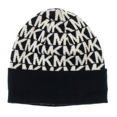 6ff3b67ce7d Michael Kors Womens MK Beanie  These nice knit hats are perfect for the  chilly weather. This is a perfect addition to any Michael Kors fans   collection.