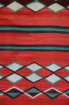 ght 1886 : Transitional Double Saddle Blanket : Historic Native American Textile : - Nizhoni Ranch Gallery
