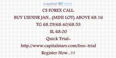 CS FOREX CALL: BUY USDINR JAN., (MINI LOT) ABOVE 68.16  TG 68.29/68.40/68.53  SL 68.00  Quick Trial-http://www.capitalstars.com/free-trial Register Now...!!!
