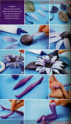 "МК лепка ""Феи"" -Sculpting Fondant Fairies figurines - Мастер-классы по украшению тортов Cake Decorating Tutorials (How To's) Tortas Paso a Paso Wish list! Fondant Flower Tutorial, Fondant Flowers, Clay Flowers, Sugar Flowers, Cake Tutorial, Fondant Figures, Fondant Cakes, Cake Decorating Techniques, Cake Decorating Tutorials"