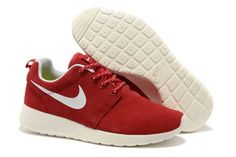 Black Friday - Nike Roshe Run Trainers Ladies Red White