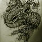 Oriental Dragon Tattoo Style (4)