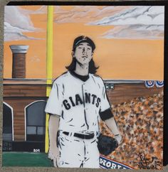 Items similar to S. Giants 2012 World Series Tim Lincecum original acrylic painting on Etsy