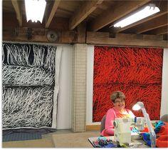 Nancy Crow in her studio