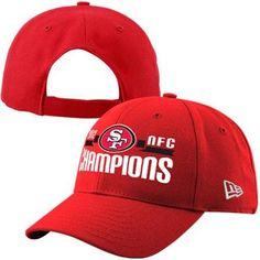 4 my Dad 2 rep after I got him the Ravens AFC Champs ball cap in Baltimore ~ we have fam on both sides this Super Bowl XLVII ~ New Era San Francisco 49ers 2012 NFC Champions 9FORTY Adjustable Hat - Scarlet