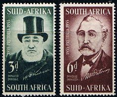 South Africa 1955 Centenary of Pretoria Set Fine Mint SG 145 6 Scott 214 5 Other… Asian History, British History, Tudor History, Strange History, History Facts, Union Of South Africa, Rare Stamps, New Africa, Haunted History