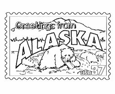 Indiana State Stamp Coloring Page USA Coloring Pages Pinterest - Fun us states coloring map