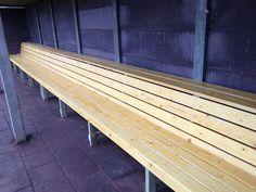How to build baseball dugout benches Baseball Dugout, Baseball Tickets, Baseball Field, Basketball Court Layout, Backyard Baseball, Baseball Jewelry, Wiffle Ball, Gyms Near Me, Basketball Leagues