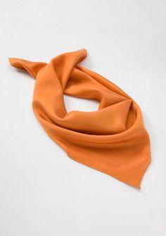 Damentuch Seide orange