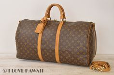 Louis Vuitton Monogram Keepall 55 Bandouliere Travel Bag / Strap M41414