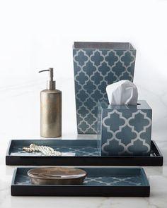 Arabesque Lacquerware Vanity Accessories by J Fleet Designs at Horchow.