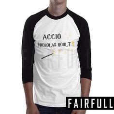 Accio nicholas hoult shirt tshirt clothing tee t-shirt raglan baseball km51
