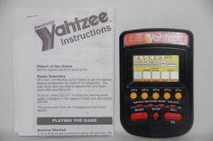 1995 Yahtzee Electronic Handheld Game Black 4511 Travel Milton Bradley  #MiltonBradley
