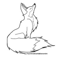 fox drawing outline - Google Search                                                                                                                                                      More