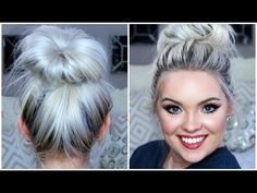 3-Minute BUBBLE BUN with Braids HairStyle ★ Easy Hairstyles - YouTube