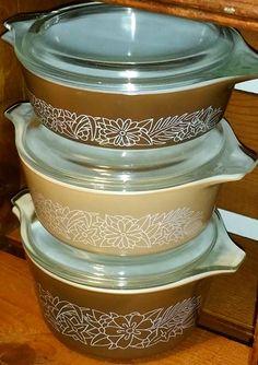 Vintage Pyrex Woodland Casserole Dishes