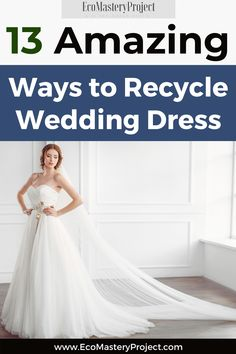 The wedding dress is the most important garment that a bride will ever wear. It's also one of the most expensive garments so it makes sense to want to get as much use out of it as possible! Check out these 13 amazing ways you can recycle your wedding dress and extend its life for years after your big day. #weddingdressrecycleideas #bridalfashion Sustainable Wedding, Sustainable Living, Sustainable Fashion, Ways To Recycle, Repurpose, Reuse, Recycled Wedding, Recycle Your Wedding, What Is Wedding