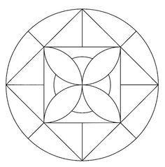 Geometric Mandala, Mandala Art, Geometric Shapes, Stained Glass Flowers, Stained Glass Patterns, Mandala Pattern, Zentangle Patterns, Old Cd Crafts, Preschool Painting