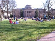 University of North Carolina at Chapel Hill students practice for spring break.
